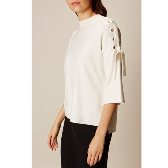 e9f8f9f089a Karen Millen Sweaters - Karen MIllen lace up shoulder sweater